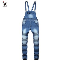 $enCountryForm.capitalKeyWord Australia - Hip hop Fashion Men's Ripped Jeans Jumpsuits Hi Street Distressed Denim Bib Overalls For Man Suspender Pants Size S-XXXL