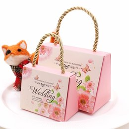 $enCountryForm.capitalKeyWord Australia - 50 Pcs Romantic Wedding Paper Handbag Party & Events Candy Box Chocolate Bag Colorful Birthday Party Gift Package Supplies T8190629