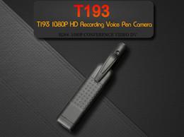 Digital Pen Camcorder NZ - T193 Mini Camera Full HD 1080P Pen DV Camera Wearable Small Camera DVR Digital voice video recorder camcorder Support 128GB Card