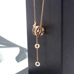 $enCountryForm.capitalKeyWord Australia - Classic Brand Beautiful Roman Numeral Hollow Pendant Necklace For Women Top Quality Titanium Steel Necklace Love Jewelry Gift