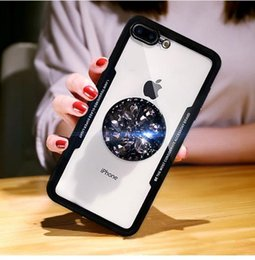 diamond x NZ - 3D Diamond drill ring soft case Glass for iphone 6 7 8 plus X XR XS MAX cover for Apple iPhone X XS Max Cases