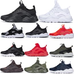 66b9a36a4068d HuaracHes men black yellow online shopping - 2019 Huarache Running Shoes  Ultra Stripe Balck White Oreo