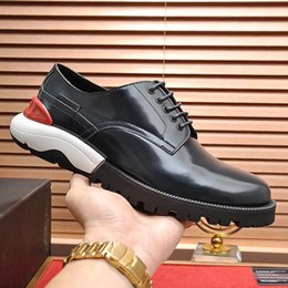 lacing mens dress shoes NZ - Drop Ship Derby Shoes Mens Shoes Breathable Chaussures pour homme Dress For Male Wedding Formal Flats Round Toe Lacing Office Work Shoes