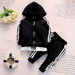 jackets tracksuits Australia - 2019 Spring Baby Casual Tracksuit Children Boy Girl Cotton Zipper Jacket Pants 2Pcs Sets Kids Leisure Sport Suit Infant