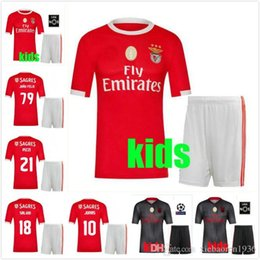 ebac3edb839 2019 Benfica Away gray kids KIT Soccer Jerseys kit 19 20 JOAO RAFA Pizzi  Salvio SEFEROVIC JONAS Raul Jimenez child boys set FOOTBALL SHIRTS