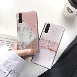 $enCountryForm.capitalKeyWord Australia - Bling Marble TPU Soft Case For Iphone X XS Max MR 7 8 6 6S Plus Huawei Mate 20 Pro P20 P30 Lite NOVA 3I 4 Tin Foil Stone Skin Cover 10pcs