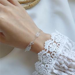 $enCountryForm.capitalKeyWord NZ - New Classic 100% 925 Sterling Silver Lace Bracelets&Bangles For Women Hollow Geometric Flower Bracelet Fine Jewelry