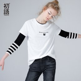 Cat T Shirts For Women Australia - Toyouth Embroidery Cat Summer T-shirts For Women Letter Short Sleeve Female Basic T Shirt All-match Black White Tee Shirt Femme Y19042501