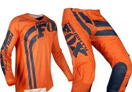 $enCountryForm.capitalKeyWord UK - free shipping 2019 NAUGHTY Fox Mens Blue White 180 Cota Dirt Bike Jersey & Pants Kit Combo Adult Motocross Gear Set MX ATV Dirt Bike