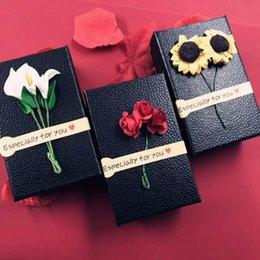 Custom lipstiCk online shopping - Custom perfume lipstick box rectangular applique small fresh gift box sponge inside cosmetic gift box