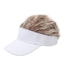 $enCountryForm.capitalKeyWord Australia - 2019hat Funny Men Adjustable Wig Cap Unisex Flair Hair Visor Snapback Casual Golf Caps Outdoor Wig Cap Parent-child Street Trend