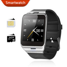 smart watch slot sim card NZ - GV18 Smart Watch With Camera SIM Card Slot Bluetooth Smart WristWatch Support Hebrew Passometer Smart Bracelet For IOS Android iPhone