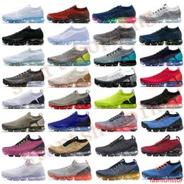 watermelon cushions Canada - 2020 Chaussures Moc 2 Laceless Fly 2.0 Running Shoes Triple Black Designer Mens Women Sneakers White knit cushion Trainers
