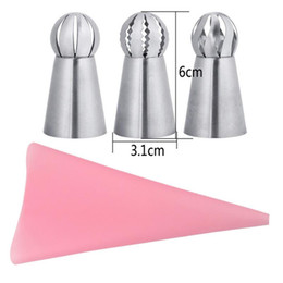 $enCountryForm.capitalKeyWord NZ - Cake Piping Tips Decorating Mouth Set 4 Piece Set Spherical Stainless Steel Plastic Baking Nozzle Tool DIY Decoration #BO
