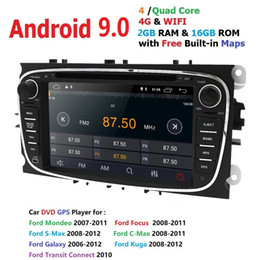 Ford Focus Player Australia - Ossuret Android 9.0 Car DVD Player 2 Din radio GPS Navi for Ford Focus Mondeo Kuga C-MAX S-MAX Galaxy Audio Stereo Head Unit DSP