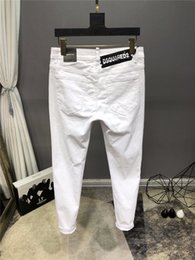 mens white jeans size 32 Australia - DD2 Style Fashion Mens Simple Summer Light Weight White Jeans Men's Casual Solid Classic Straight Denim Designer Jeans Size 29-38