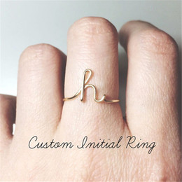 $enCountryForm.capitalKeyWord Australia - A-Z 26 Letters Initial Name Rings for Women Men Unisex Gold Silver Color Geometric Alloy Creative Finger Rings Jewelry Wholesale