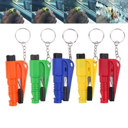 $enCountryForm.capitalKeyWord Australia - 1000pcs 3 in 1 Emergency Mini Safety Hammer Auto Car Window Glass Breaker Seat Belt Cutter Rescue Hammer Car Life-saving Escape Tool