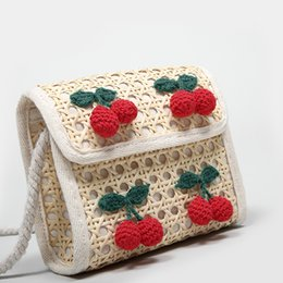 Body Bag Sac Australia - 2019 new fashion Crossbody Bags For Women Weaving Cute cherry Handbags Women Bag Designer Ladies Hand Shoulder Bag Messenger Sac A Main
