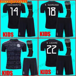 21206283efd Mexico Kids kit soccer jersey 2019 LOZANO CHICHARITO gold cup football  shirt boys 19 20 DOS SANTOS Camisetas de futbol LAYUN maillot de foot