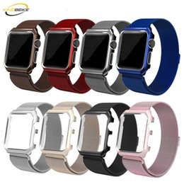 $enCountryForm.capitalKeyWord NZ - Milanese Watchband+Frame For Apple Watch Bracelet iwatch Series 1 2 3 38mm 42mm Alloy Frame Strap Watches Metal Band