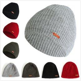 Snow Beanies Australia - Men Winter Knitted Beanie Hat Brand Designer Winter  Warm Crochet Knit Ski b7ef1f01ba5