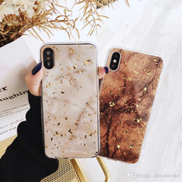$enCountryForm.capitalKeyWord Australia - Marble Glitter Phone Case Luxury Gold Foil Bling Cover Soft TPU Full Covered Case Crystal Fashion Gift For iPhone X XS Max XR Free Shipping