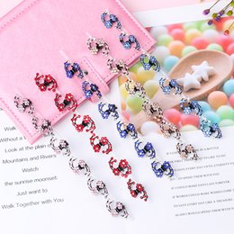 $enCountryForm.capitalKeyWord Australia - 6PCS New Rhinestone Flower Bride Hair Claw Snowflake Mini Hairpins Hair Accessories Set Clips Hairgrip For Women Girls
