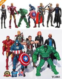 $enCountryForm.capitalKeyWord Australia - 7pcs The Avengers Action Figure Marvel Hulk Captain Hawkeye Ironman Thor TG003