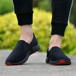 $enCountryForm.capitalKeyWord Australia - Size 38-45 Cheap Men's Sneakers Slip on Canvas Shoes Men Casual Fashion Breathable Black Shoes Loafers Men Trainers Flat Sneaker