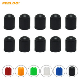 bicycle stem NZ - FEELDO 10pcs lot Universal 6-Color Plastic Car Valve Caps Bicycle Motorcycle Wheel Tyre Air Valve Stem Caps #3875