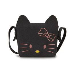 12486aee5 Children Cute Cat Messenger Bag Hello Kitty Women Girls Mini Bags Flap  Crossbody Candy Colors Small Casual Handbags sac a dos