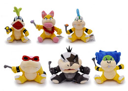 larry koopa plush toy Australia - 1PCS Super Mario Roy Bully Wendy Larry Morton Lggy Ludwig Koopa Bowser Koopalings Plush Toys For Kids Birthday Christmas Gifts