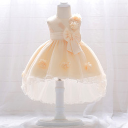 84bb5f3ab Latest Baby Frock Designs Girls Party Outfits Small Baby 0-3year Birthday  New Model Flower Dress T1866XZ