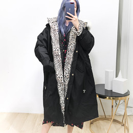 leopard parka NZ - 2019 Thick Winter Women Down Coat Female Long Down Parkas Real Natural Raccoon Fur Collar Duck Jacket Female Solid Outwear