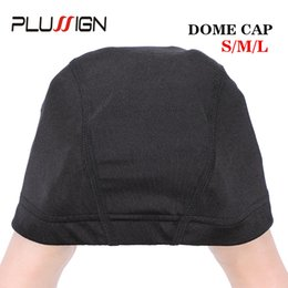 $enCountryForm.capitalKeyWord UK - Plussign Dome Wig Cap 52cm-56cm Three Size Mesh Wig Cap Breathable Spandex With Great Elastic Band 2pcs lot Making Tool