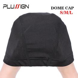 $enCountryForm.capitalKeyWord Australia - Plussign Dome Wig Cap 52cm-56cm Three Size Mesh Wig Cap Breathable Spandex With Great Elastic Band 2pcs lot Making Tool