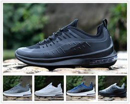 black men running shoes discounted NZ - Designer Axis 98 Men Women Running Shoes Triple Black White Cool Grey Oreo Blue Olive Cheap Trainer Sport Sneaker Size 7-11 Discount Online