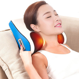 heated massage Australia - Multi-functional Massage Pillow Electric Infrared Heating Kneading Neck Shoulder Body Massager Pillow Home Use Cervical vertebra SH190925