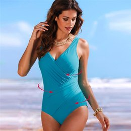Discount xs swimsuits for women - 2020 New One Piece Swimsuit Women Plus Size Swimwear Retro Vintage Bathing Suits Beachwear Swimming For Suit Print Swim