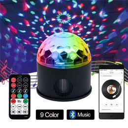 Crystal Magic Ball Usb Australia - Rotary Voice Bluetooth Remote Control Music LED Crystal Magic Ball Lamp Kit 120 Degrees Colorful USB MP3 Music LED Stage Lights