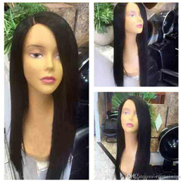 $enCountryForm.capitalKeyWord Australia - Side Part Silky Straight Virgin Human Hair Wig 130% Density Full Lace Wigs Brazilian 9A Straight Hair Lace Front Wig For Black Woman