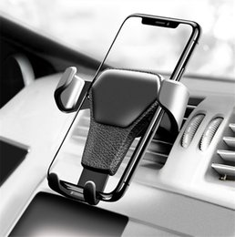 Wholesale Car Phone Holder For Phone In Car Air Vent Mount Stand Dashboard Support Mobile Phone Holder Universal Gravity Smartphone Cell Support