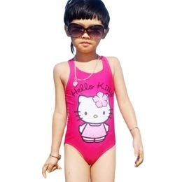 $enCountryForm.capitalKeyWord NZ - Hello Kitty Girl's Swimsuit For Children Swimwear One Piece Swimming Suit Kids 2016 Brand Clothes Summer Beach Wear SW280-CGR1