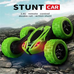 Toys cars remoTes conTrols online shopping - Trick Roll Car Toy Electric Child Remote Control Cars Boy Popular Birthday Gift Resistance To Fall Anti Wear Hot Sale ch I1