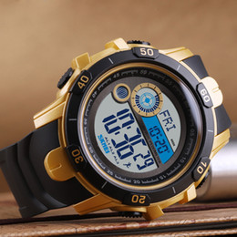 Discount watches digital compass - New men watch multi-function countdown compass digital display sports wristwatches waterproof male student watch