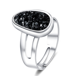 Love Rings Sale Australia - Hot Sales Silver Rings Natural Stone Love Crystal Cluster Jewelry Ring Women Christmas Gift Wholesale Ladies Fashion Accessories
