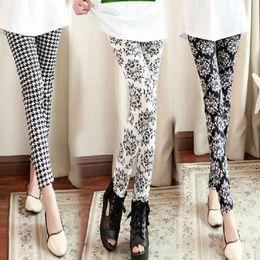 $enCountryForm.capitalKeyWord Australia - Casual Vertical Striped Printed Women Leggings Fashion Elasticity Ankle-Length Pant Female Fitnes Legging Black And White