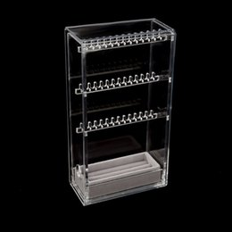 $enCountryForm.capitalKeyWord Canada - Earrings Necklace Organizer Jewelry Hanger Storage Case Necklace Accessory Rack Display Holder Spinning Rack Gifts Acrylic Box