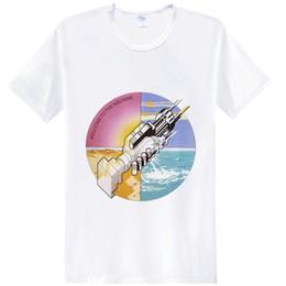 $enCountryForm.capitalKeyWord Australia - Handshake t shirt Welcome to the machine short sleeve tees Fashion tops Fadeless print clothing Pure color colorfast modal Tshirt